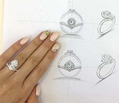 福原愛のダイヤの指輪のブランドBLOVERS(中国)で婚約指輪を作りました♡